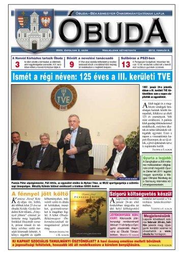 Óbuda Újság 2012/3. szám - Óbuda-Békásmegyer