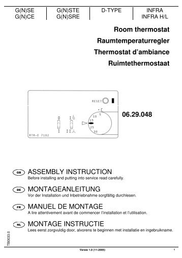 TB0033-0_MONTAGE INSTRUCTIE THERMOSTAAT ... - Mark Climate
