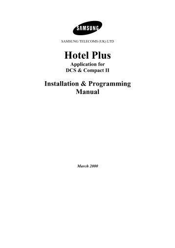 dcs 816 system admin guide samsung telephone systems rh yumpu com samsung idcs 28d programming manual samsung dcs 50 si installation manual
