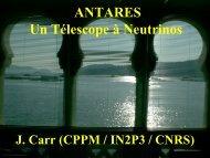 Présentation du projet par John Carr - Antares - IN2P3