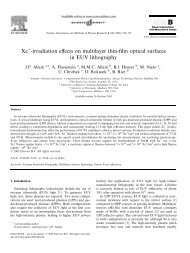Xe -irradiation effects on multilayer thin-film optical surfaces in EUV ...
