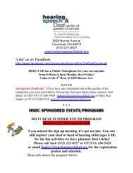 CSD Weekly Updates - Hearing, Speech & Deaf Center