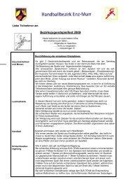 Merkblatt BJS 2009 - bei der SG Ludwigsburg/Eglosheim