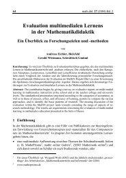 Evaluation multimedialen Lernens in der Mathematikdidaktik