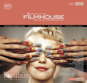 03 May - 19 Jun - Filmhouse Cinema Edinburgh