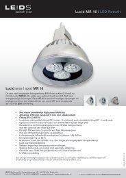 Lucid MR 16 | LED-Retrofit Lucid area | spot MR 16 - LEIDS