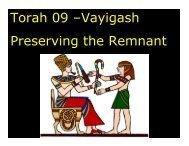 Torah 09 –Vayigash Preserving the Remnant - Congregation ...