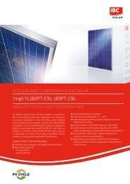 Yingli YL180PT-23b, 185PT-23b - ibc solar