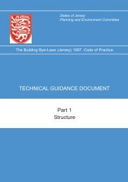 Part 1 Structure TECHNICAL GUIDANCE ... - States of Jersey