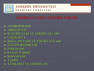 Slayt 1 - Fen Edebiyat Fakültesi - Karabük Üniversitesi