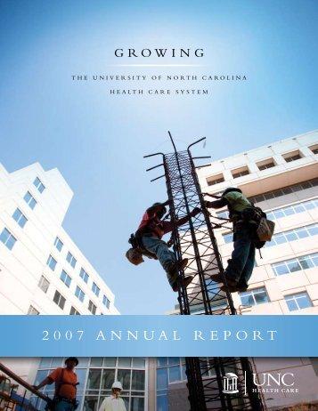 2007 ANNUAL REPORT - UNC Health Care