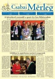 A következô esztendô a sport éve lesz Békéscsabán - Csabai Mérleg