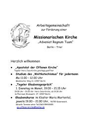 Missionarischen Kirche - Katholische Kirchengemeinde Herz-Jesu