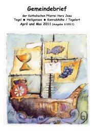 Zeitung 4-5 2011 Rev. 10 mit Titelbild - Katholische ...