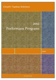 2012 Performans Programı - Tepebaşı Belediyesi
