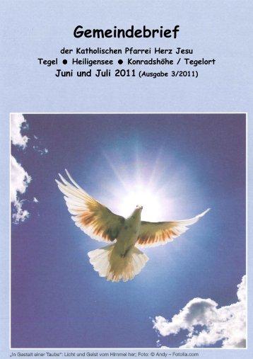 Gemeindebrief 06/2011-07/2011 - Katholische Kirchengemeinde ...