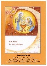 Gemeindebrief 12/2009-01/2010 - Katholische Kirchengemeinde ...