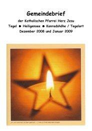 Gemeindebrief 12/2008-01/2009 - Katholische Kirchengemeinde ...