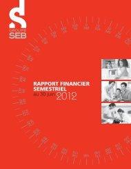 rapport de gestion 2012 - Groupe SEB