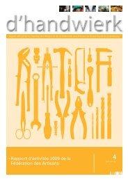 • Rapport d'activités 2009 de la Fédération des Artisans