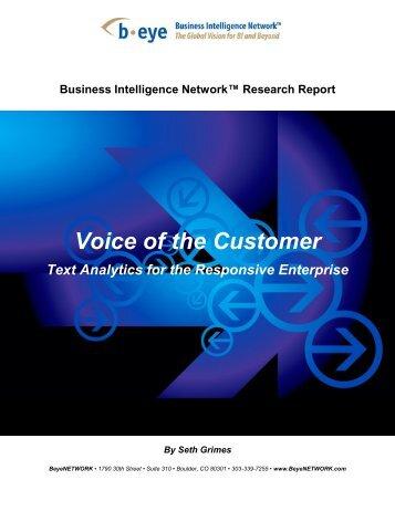 Operational Business Intelligence - Alta Plana