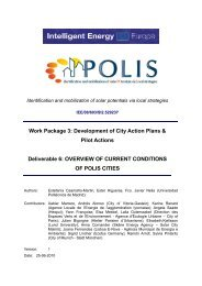 Conditions and Strategies in POLIS Cities