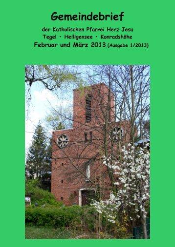 Gemeindebrief - Katholische Kirchengemeinde Herz-Jesu