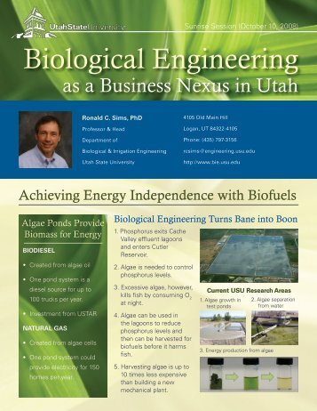 Biological Engineering - Utah State University