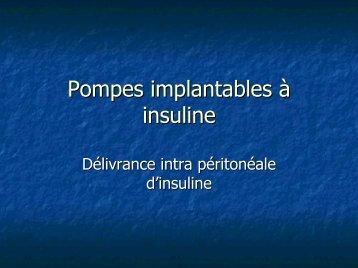 Pompes implantables à insuline - ADIPh