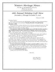 18th Annual Holiday Craft Show - Winters Heritage House Museum
