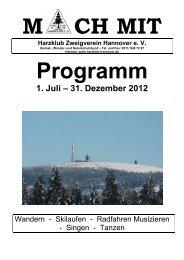 1. Juli – 31. Dezember 2012 - Harzklub Zweigverein Hannover e.  V.