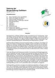 Satzung der Bürgerstiftung Ostfildern