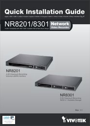 Vivotek NR8301 Network Video Recorder Installation Guide - Use-IP