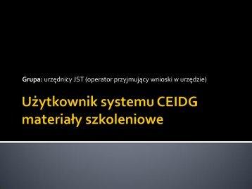 Wyszukiwanie wpisów w CEIDG