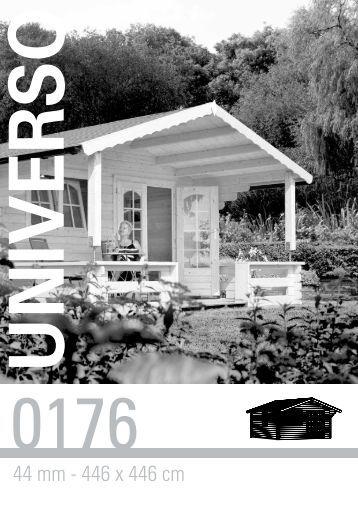 44 mm - 446 x 446 cm - Gartenhaus-wohnkultur.de