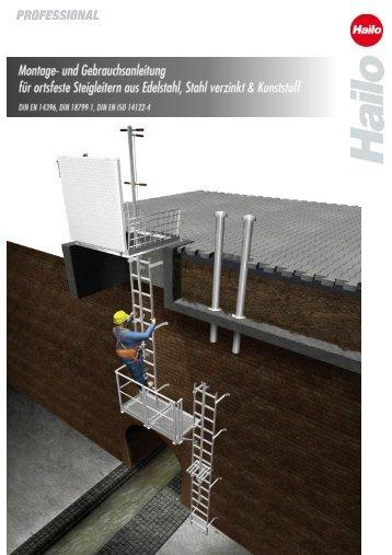 Montageanleitung Schachtleitersystem - Hailo Professional