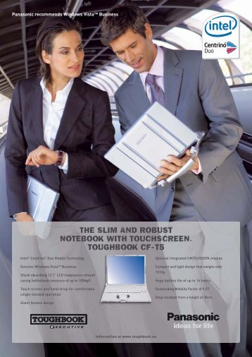 the slim and robust notebook with touchscreen. toughbook cf - t5