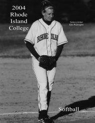 2004 Rhode Island College Softball - Rhode Island College Athletics
