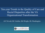 Ten-Year Trends in the Quality of Care and Racial ... - AcademyHealth