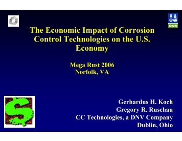 The Economic Impact of Corrosion Control ... - NST Center