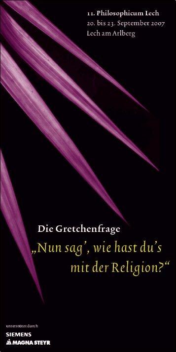 Programm PDF - Philosophicum Lech