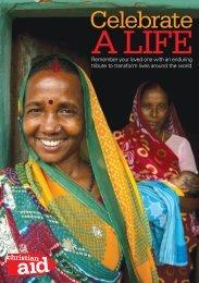 Celebrate a life - Christian Aid