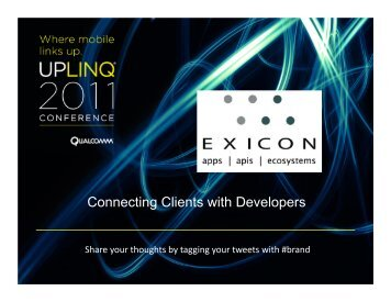 Why-Mobile-Matters-Exicon-Digital-Overview (pdf) - Uplinq