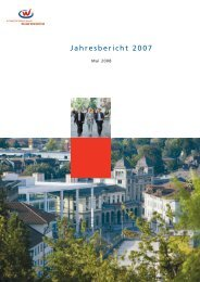 Jahresbericht 2007 - Standortförderung Region Winterthur