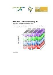Naar een klimaatbestendig NL; Kaders voor ... - Leven met Water
