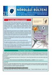 Nöroloji Bülteni Sayı 23 - Türk Nöroloji Derneği