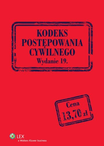 kodeks postępowania cywilnego - Księgarnia Internetowa profinfo.pl