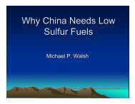 Why China Needs Low Sulfur Fuels - Walsh Car Lines