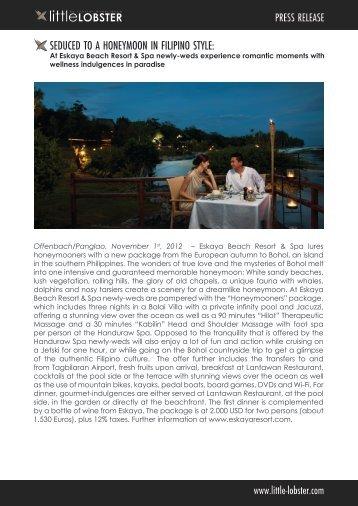 Press Release Little Lobster: Eskaya Beach Resort & Spa