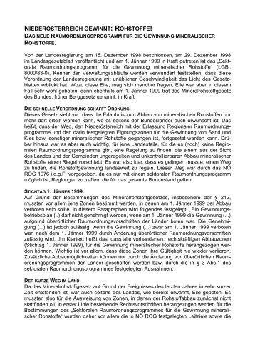 Rohstoffgewinnung in Niederösterreich - Raumordnung und ...